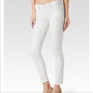 Paige Verdugo Frayed Hem Ankle Jeans 26x26